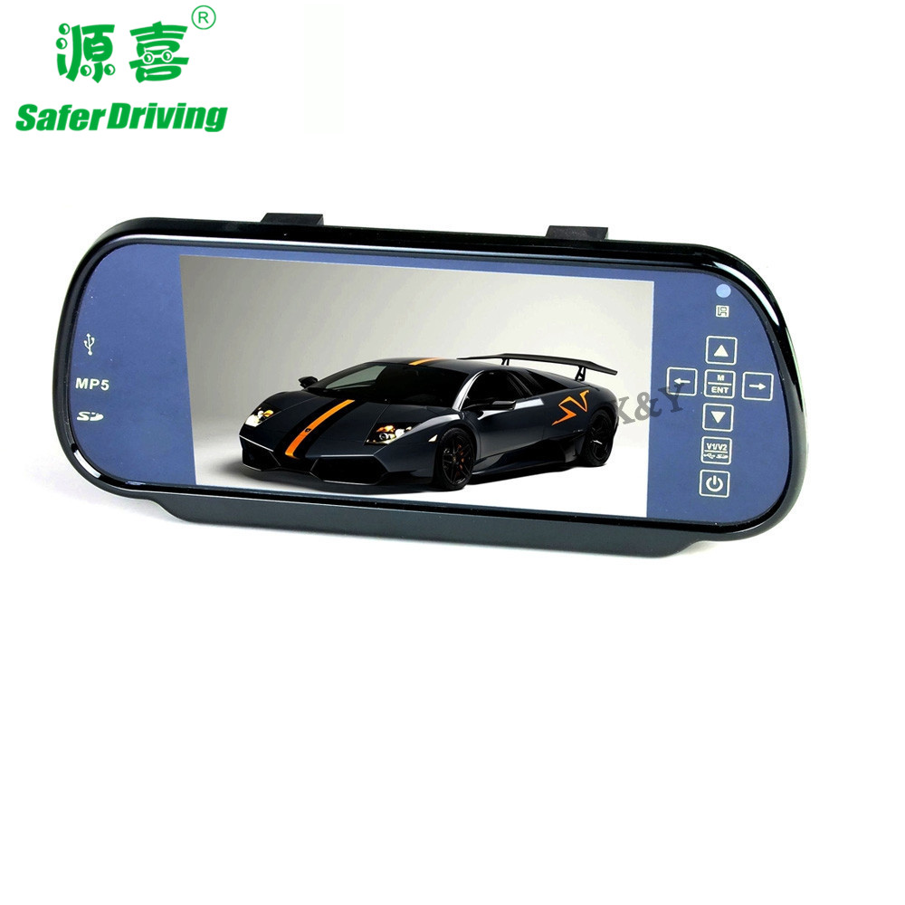 7 inch car mirror MP5+Bluetooth lcd monitor   XY-2037